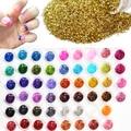 60pcs Different Colors Nail Glitter Powder Dust 3D Nail Art Decoration Acrylic UV Gem Polish Nail Art Tools Set NJ151