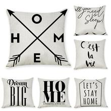 New arrival Coreless Pillowcase Best-selling Nordic Simple English Cotton and Hemp Pillow  Auto Cushion