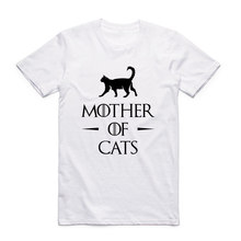 Asian Size Men And Women Print Mother Of Cats Fashion T Shirt O-Neck Short Sleeve Summer Casual Funny Adult T-shirt HCP985