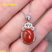 KJJEAXCMY fine jewelry s925 silver color treasure natural South red pendants to send necklaces abc natural quality goods color ice stone bracelet send certificates send jewelry box