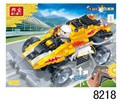 Banbao 8218 Remote Control Car Racing juguetes modelo 165 unids RC juguetes de plástico Building Block Sets Educational DIY juguetes de los ladrillos