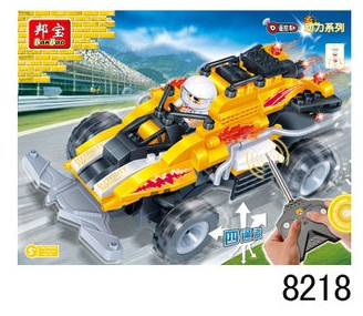 Banbao 8218 Remote Control Racing Car toys Model 165 pcs RC Toys Plastic Building Block Sets Educational DIY Bricks Toys