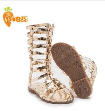 bb6a67af5f08 Hot Infant Toddler Kid Children Fashion Gladiator Sandals Black Silver Golden  Baby Girl Summer Boots 2 9Years Sapatos Infantil-in Sandals from Mother    Kids ...