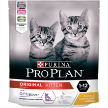 Сухой корм Purina Pro Plan для котят от 1 до 12 месяцев, с курицей, Пакет, 400 гр