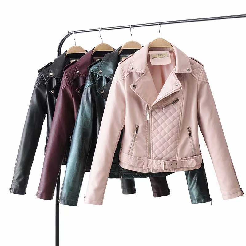 2019 New Fashion Women Autumn Winter Faux   Leather   Jacket Lady Motorcycle PU Cool Biker Coat Female Casual Outerwear Streetwear