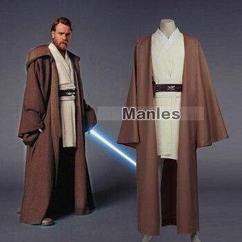 Custom Made Robes | Jedi Knight Obi-Wan Kenobi Costume Star Wars Jedi Tunic Cosplay Costume Jedi Tunic Robe Costume With Cloak Halloween Custom Made