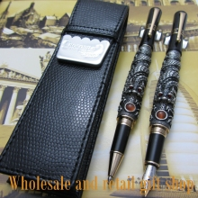 цены на 2pcs JINHAO Fountain Pen Silver flying dragon Office gift pen and pen bag  в интернет-магазинах