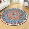 Ethnic Totem Round Carpet Computer Chair Round Rugs Home Entrance Hallway Doormat Bedroom Carpets Cloakroom Rug