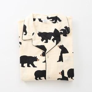 Image 2 - Cute white bear 100% brushed cotton men pajama sets Autumn Casual fashion animal sleepwear men homewear sexy pijamas mujer