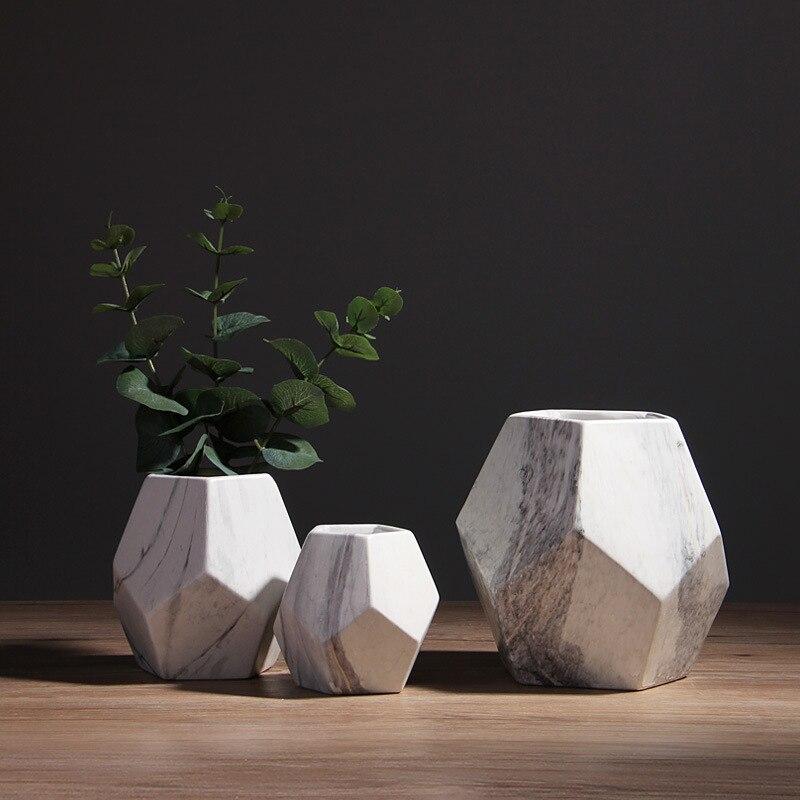 1 Pc Minimalistischen Keramik Vase Marmoriert Design Blume Vase Wohnkultur Handwerk Tabletop Vase Porzellan Hydrokultur Container