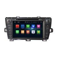 2G RAM Octa Çekirdek Android 6.0 Araba DVD Oynatıcı GPS Radyo WiFi ile Toyota Prius 2009-2013 için BT, destek OBD Ayna Bağlantı TSK DAB +