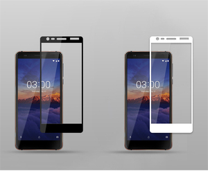 Image 3 - sFor Nokia 3.1 Tempered Glass Full Cover Screen Protector For Nokia 3.1 Glass Color Anti Explosion Protective Glass For Nokia3.1