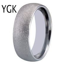 8MM Classic 100% Tungsten Carbide Ring Silver Sandblasted Wedding Bands Rings Never Rust Anniversary Gift Drop Shipping