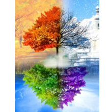 Natural landscape  Diamond Painting tree scenery DIY embroidery full round color scenic painting