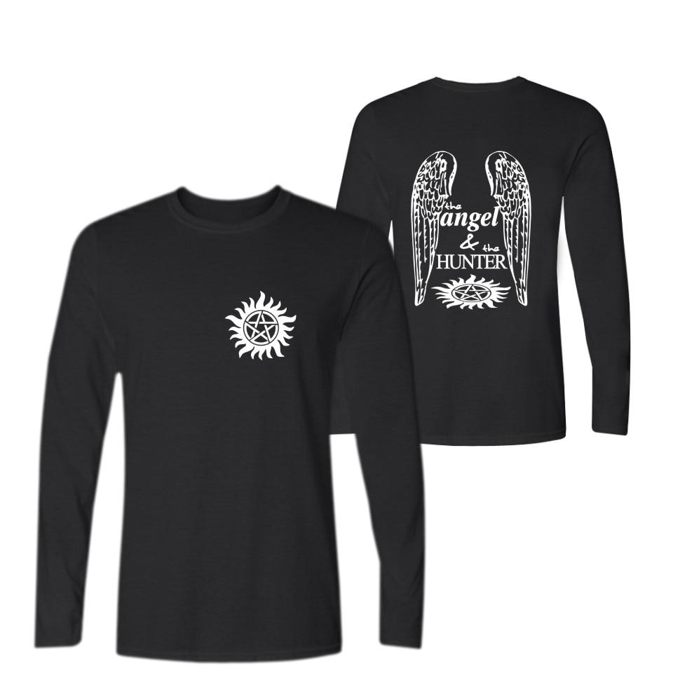 Supernatural T Shirts For Men Men Luxury Tee Shirt Size XXS To 4XL Tshirt Men/Men Brand Luxury Long Sleeve