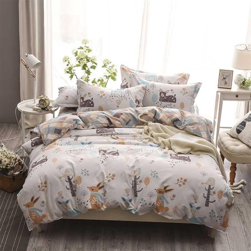 Thick Bedding Set sanding Duvet Cover bedsheet pillowcase Bed Set Twin Full Queen King size 3/4pcs