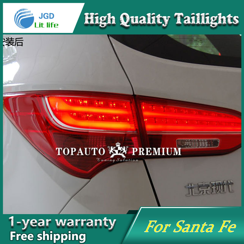 Car Styling Tail Lamp case for Hyundai IX45 SantaFe Santa Fe 2013-2015 Tail Lights LED Tail Light Rear Lamp LED taillights accent verna solaris for hyundai led tail lamp 2011 2013 year red color yz