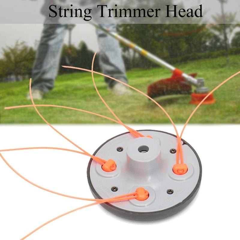 High Quality PA6 Aylon Universal 4-Line String Trimmer Head Bump Feed Pro Weed Mower Grass Cutter Brush Cutter Trimmer