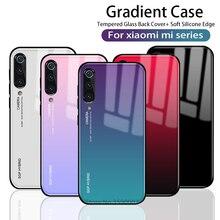 Gradient Phone Case For Xiaomi Mi 9 8 A2 lite 6X Glass Back