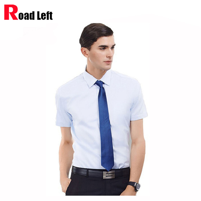 2016 Mens Fashion Brand Striped Shirt Male Cotton Slim Fit Short Sleeve Mandarin Collar Shirt Dress Shirts Men Camisa Masculina