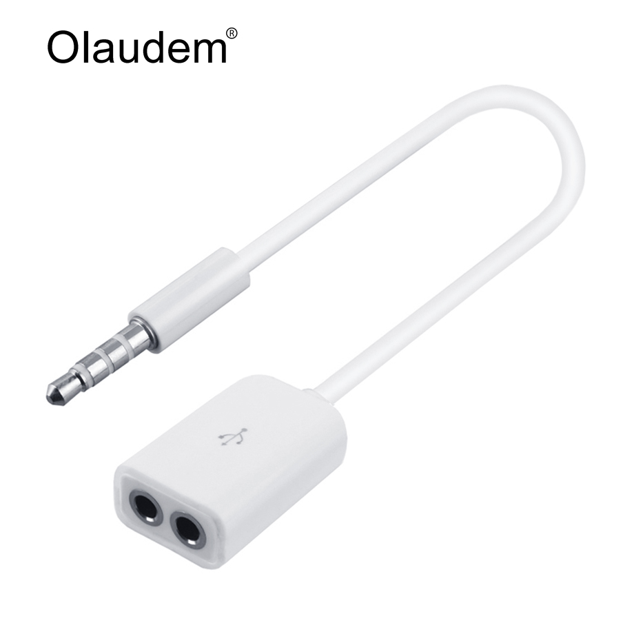 1 male to 2 port female audio stereo jack headphone splitter cable adapter for mobile. Black Bedroom Furniture Sets. Home Design Ideas