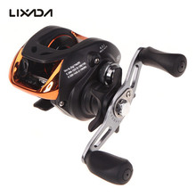 LIXADA 10+1BB Left Right Hand Baitcasting Fishing Reel 6.3:1 Bait Casting Fishing Wheel With Magnetic Brake Carp Carretilha Pesca AF103