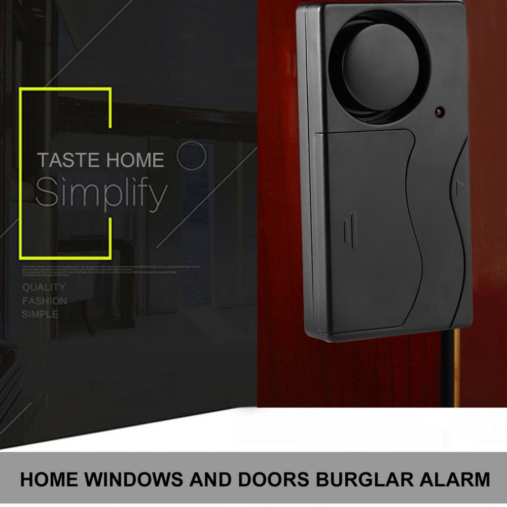 Compact Small 105dB Ultra-loud Vibration Perception Wireless Vibration Trigger Safety Alarm with Remote Control compact