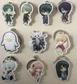 (10 pcs/lot) Gintama Anime Character Pendants Gintoki Sadaharu Shinpachi Takasugi Katsura Cute Keyring Figures Free shipping