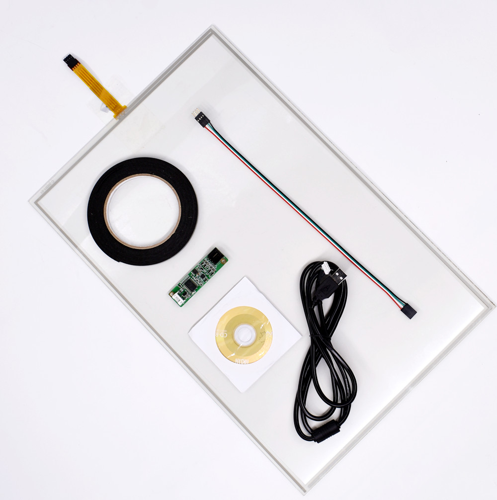 19inch 4 Wire Resistive Touch Screen Panel USB Kit For 19 LCD Monitor 276x426m