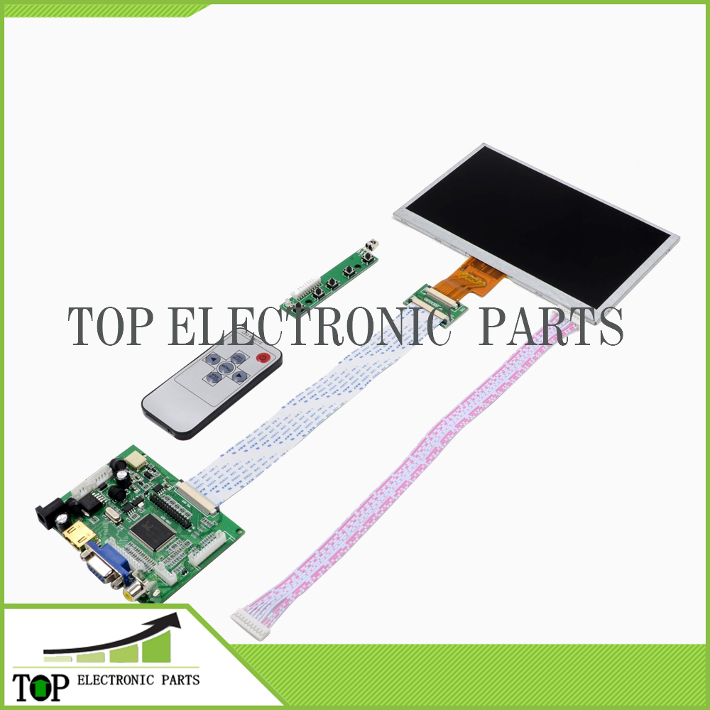 7 in Inch 1280(RGB)*800 TFT EJ101IA-01G LCD Screen Display With Remote Driver Control Board 2AV HDMI VGA for Raspberry Pi