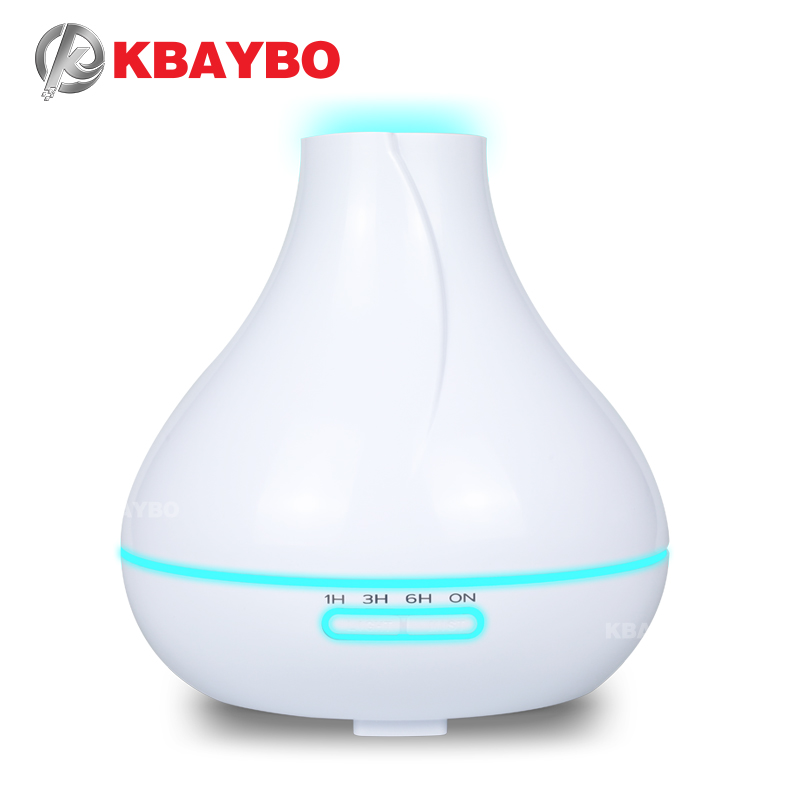400ml Ultrasonic Air Humidifier Aroma Essential Oil Diffuser Wood Aromatherapy Cool Mist Maker Fogger Air Vaporizer For Home
