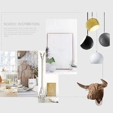 Modern LED Hemisphere Pendant Light Fixtures Loft Art Iron Lamps Living Room Restaurant Cafe Bar Hanging Luminaire