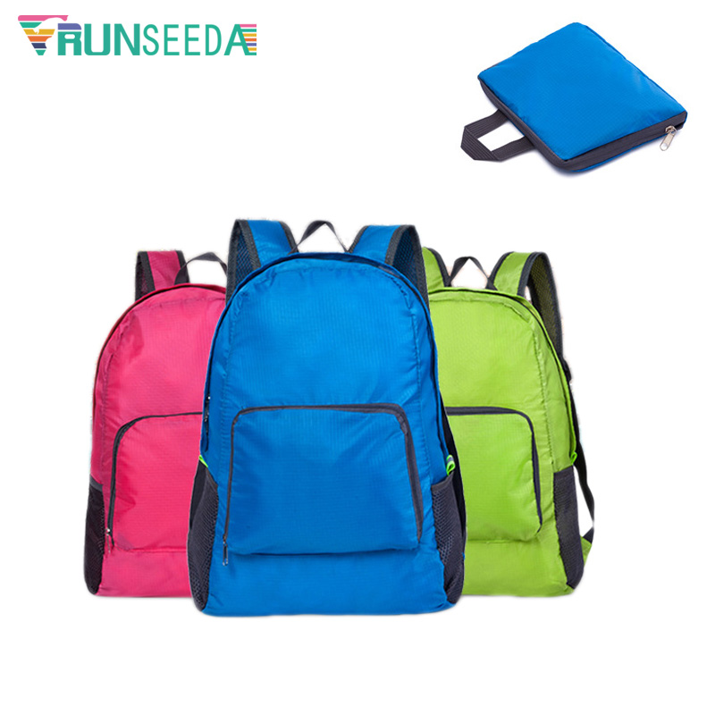 Runseeda Outdoor Sports Foldable Backpack Bag Waterproof Lightweight Cycling Camping Hiking Backpack Daily Travelling Nylon Bags