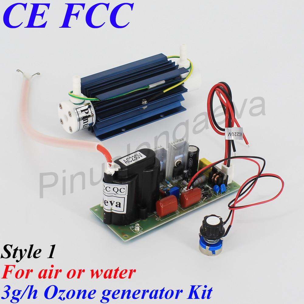 Pinuslongaeva 3G / H 3grams állítható kvarccső típusú ózongenerátor Kit orvosi ózon generátor alkatrészek ózonvíz levegő tisztító