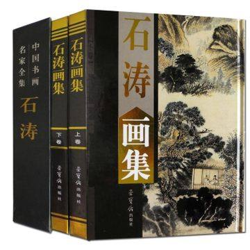 book album of Shi Tao chinese painting book best version master brush ink Asian art chinese painting brush ink art maters album fu baoshi landscape figure book