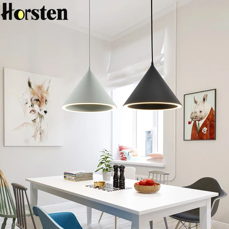 Horsten Nordic Simple Single Head Pendant Lights Lamp Creative Minimalism Hanging   Lighting For Dining Room Bedroom Restaurant crysta lamp pendant lights lounge dining room bedroom lamp lychee simple new european style warm crystal hanging lamp