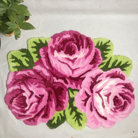 Hot sales high quality beautiful /fashion romantic floor mat rose art 3D carpet livingroom bedroom rug parlor hallway rug thick