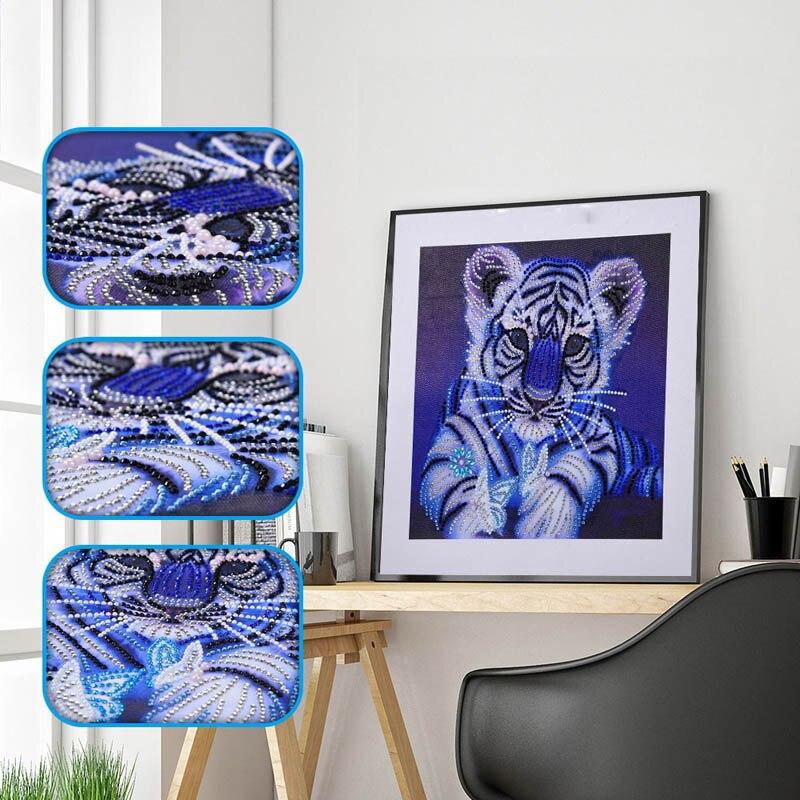 5D DIY Diamond Painting Animals Flower Pattern Special Shape Diamond Rhinestone Painting J2Y