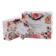 10pcs/lot High-grade paper Flower gift bag garment bag paper