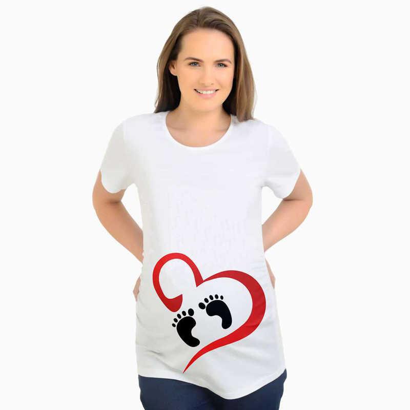 ใหม่ 2018 เป็นชายฤดูร้อนผู้หญิงเสื้อยืด Tees การ์ตูนคลอดบุตรพยาบาลการตั้งครรภ์ตลก T เสื้อสำหรับหญิงตั้งครรภ์ผู้หญิง