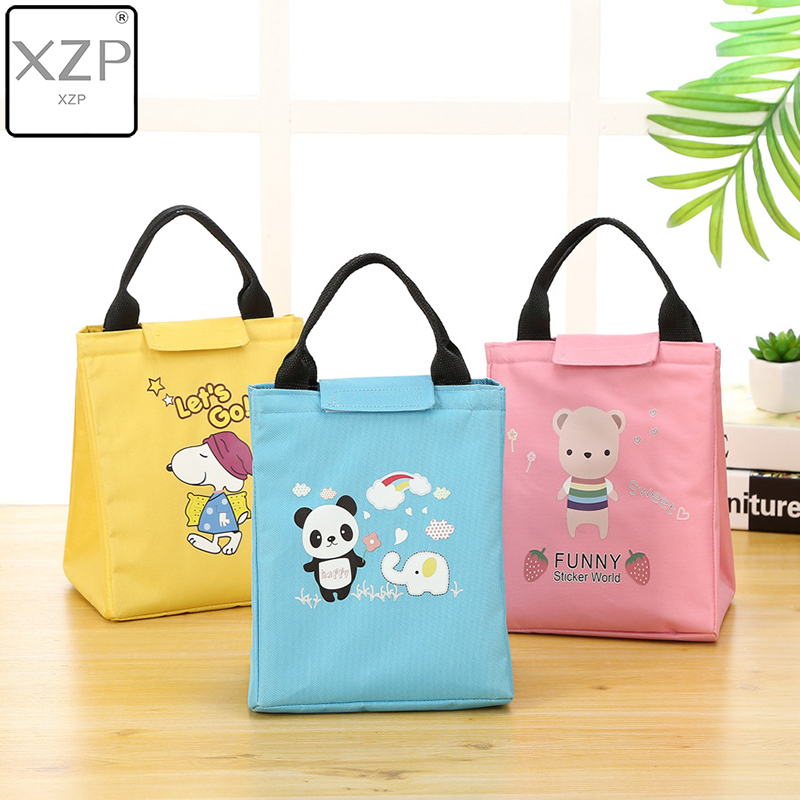 XZP Cute Women Thermal Lunch Bag New Waterproof Oxford Cartoon Cooler Bag Totes Girl Portable Insulated Big Picnic Bag Panda