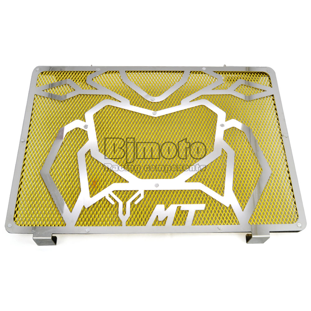 ФОТО BJGLOBAL Motorcycle Engine Radiator Bezel Grille Grill Guard Cover Protector Golden For Yamaha MT09 Stainless Steel