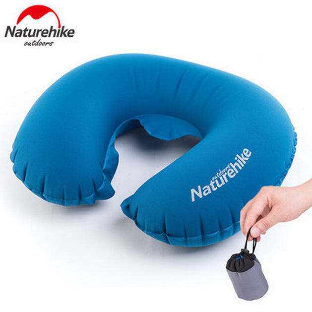 Naturehike U Shape Inflatable Memory Neck Air Pillow Massage Protect - Camping and Hiking