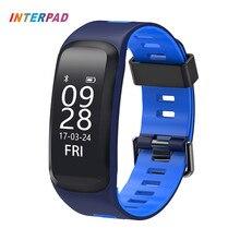 2018 interpad i-f4 смарт-браслет с GPS погоду сердечного ритма мульти-спорт Режим Smart Браслет IP68 Водонепроницаемый для Android IOS
