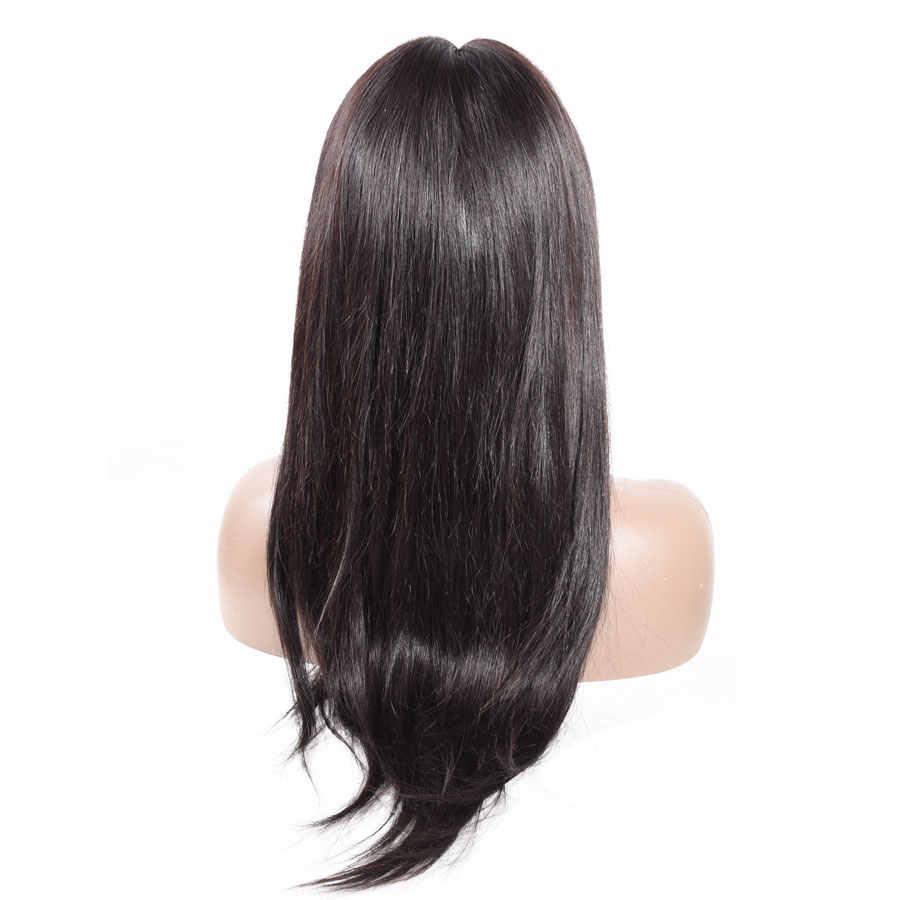 28 cal peruka prosto 4x6 zamknięcie koronki peruki ludzki włos koronki peruka brazylijski Remy U część peruka dla kobiety bielone węzeł 150 gęstości