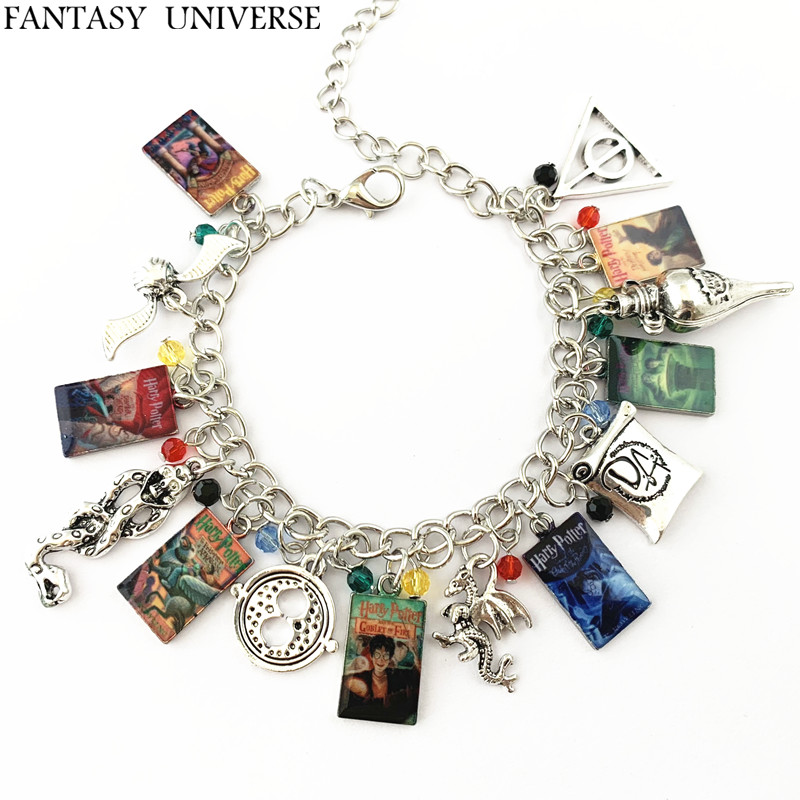 FANTASY UNIVERSE darmowa wysyłka 20 szt dużo HP okładki książek Charm bransoletka HRFGFG01 w Bransoletki celebrytki od Biżuteria i akcesoria na  Grupa 1