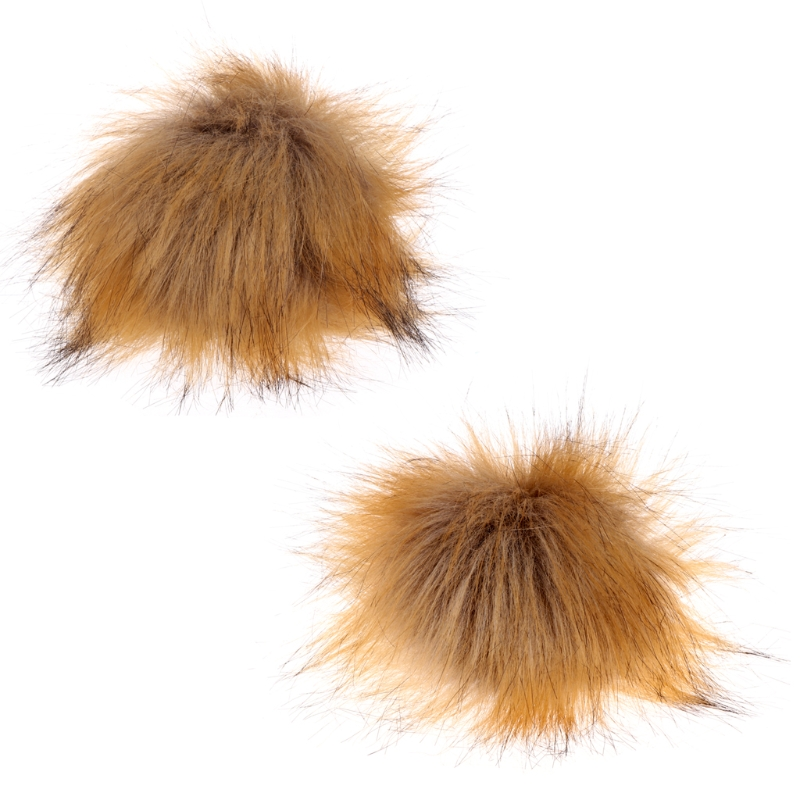 2017 Faux Raccoon Fake Fur Hair Ball Fluffy Pompom Hat Clothing Bag Shoses Accessory NOV2_40