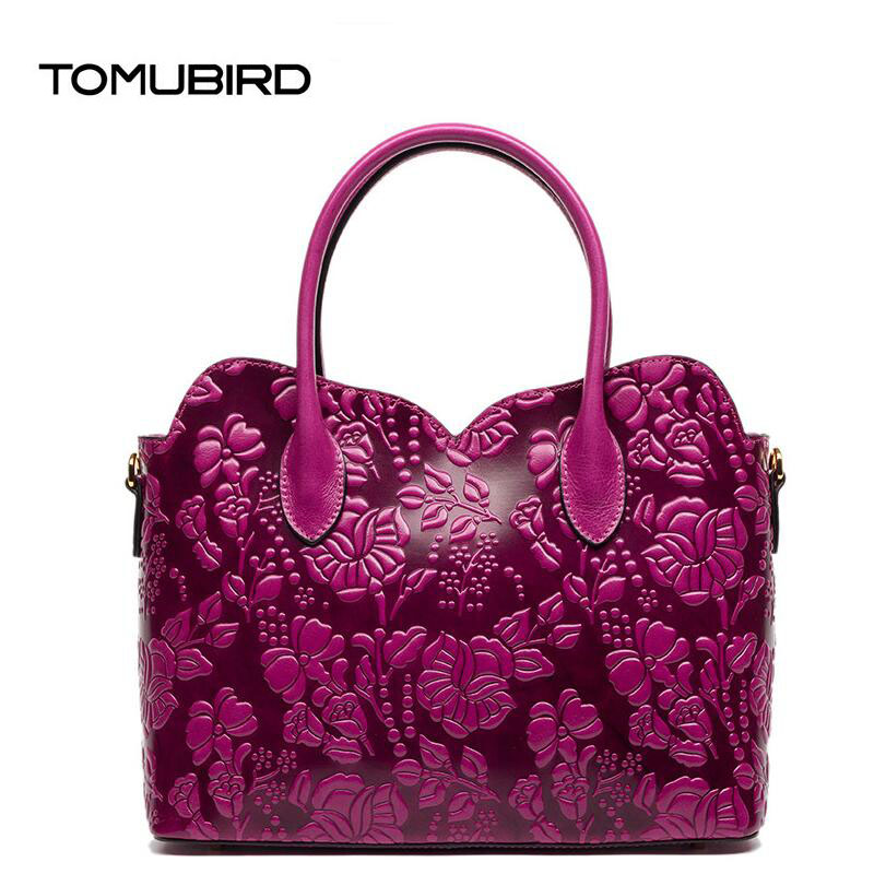 TOMUBIRD 2017 new superior leather designer famous brand women bags fashion embossing genuine leather handbags