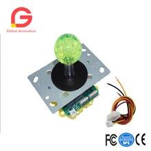 2 pcs 12V Illuminated LED Arcade Joystick Switchable 2/4/8 Way Fighters Stick Consoles