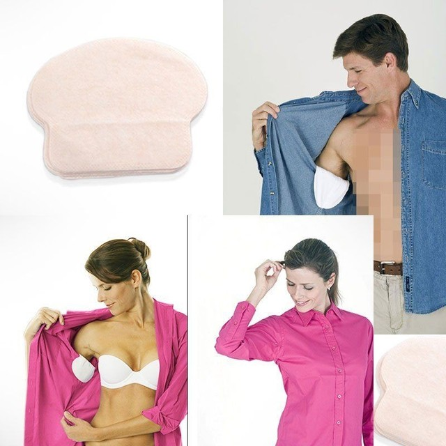 100X ( 50 Pairs ) Summer Deodorants Cotton Pads Underarm Armpit Sweat Pads Dress Disposable Stop Sweat Shield Guard Absorbing 5